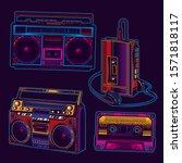 original vector music set in...   Shutterstock .eps vector #1571818117