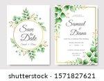 wedding invitation card... | Shutterstock .eps vector #1571827621