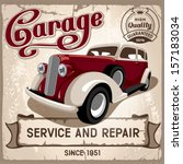 auto service retro poster....   Shutterstock .eps vector #157183034