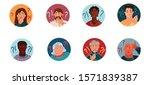 set of portraits of people of... | Shutterstock .eps vector #1571839387