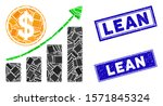 mosaic dollar growth chart icon ... | Shutterstock .eps vector #1571845324
