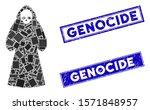 Mosaic Death Hood Man Icon And...
