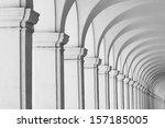 Long Row Of Colonnade Columns...