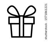 gift icon. vector illustration...