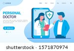 personal doctor landing page... | Shutterstock .eps vector #1571870974