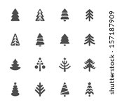 christmas tree icons set | Shutterstock .eps vector #157187909