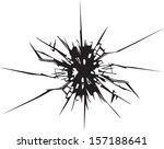 broken glass effect. vector... | Shutterstock .eps vector #157188641