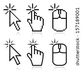 click here mouse cursors set.... | Shutterstock .eps vector #157189001