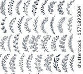 seamless pattern with hand... | Shutterstock .eps vector #1571895004