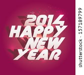 happy new 2014 year background. ... | Shutterstock .eps vector #157189799