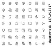 Gdpr Line Icons Set. General...