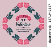 text happy valentine background ... | Shutterstock .eps vector #1571941537