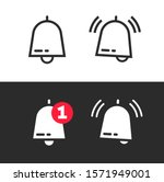 bell line outline art icon or...