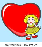 cartoon little girl and ornate... | Shutterstock . vector #15719599