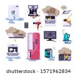 broken home appliances flat...   Shutterstock .eps vector #1571962834