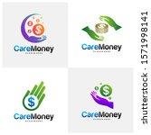 set of money care logo design... | Shutterstock .eps vector #1571998141