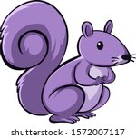 purple squirrel on white... | Shutterstock .eps vector #1572007117