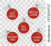 christmas sale  special offer ... | Shutterstock .eps vector #1572019717