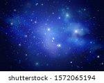 Beautiful Space Galaxy At Night ...