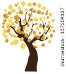 vector autumn tree | Shutterstock .eps vector #157209137
