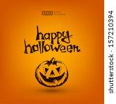 happy halloween   Shutterstock .eps vector #157210394