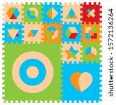 vector foam baby kids play mat... | Shutterstock .eps vector #1572136264