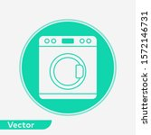 washing machine vector icon... | Shutterstock .eps vector #1572146731