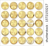 collection of golden badges and ... | Shutterstock . vector #1572153217