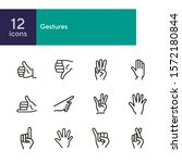 gestures line icon set. like ... | Shutterstock .eps vector #1572180844