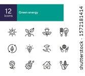 green energy line icons. set of ... | Shutterstock .eps vector #1572181414
