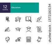 education line icon set. set of ... | Shutterstock .eps vector #1572183154