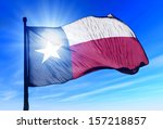 Texas  Usa  Flag Waving On The...