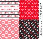 valentine's day patterns. set... | Shutterstock .eps vector #1572194407