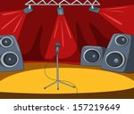 rock roll stage with musical...