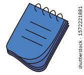 notebook icon. daily planner....