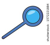 loupe icon. search information...