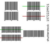 barcode set  icons. graphic... | Shutterstock .eps vector #1572229921