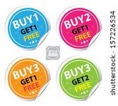 vector   sticker or label for... | Shutterstock .eps vector #157226534