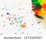 melted crayon colored white...   Shutterstock . vector #1572265507