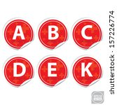 vector vitamin a  b  c  d  e... | Shutterstock .eps vector #157226774
