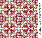 mexican talavera ceramic tile... | Shutterstock .eps vector #1572277987