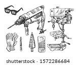 drilling machine vector  ... | Shutterstock .eps vector #1572286684