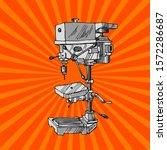 drilling machine vector  ... | Shutterstock .eps vector #1572286687
