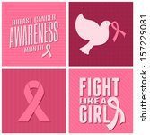 a set of breast cancer... | Shutterstock .eps vector #157229081