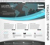 website design template  | Shutterstock .eps vector #157229561