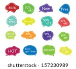 set of speech and thought... | Shutterstock .eps vector #157230989