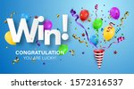 winner background with confetti ... | Shutterstock .eps vector #1572316537