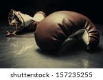 boxing gloves on reflective... | Shutterstock . vector #157235255