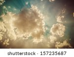 cloud light and blue sky in the ... | Shutterstock . vector #157235687