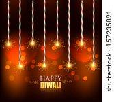 vector diwali background with... | Shutterstock .eps vector #157235891